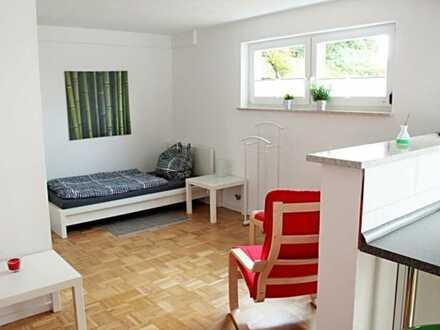 Versteigerung: Helle 1 Zimmer-Souterrain-Wohnung mit Büro + Hobbyraum + sehr großem Gartenanteil