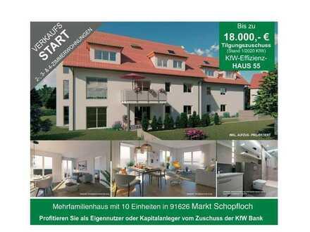 Neubauwohnung im DG mit Balkon Schlüsselfertig mit Zuschuss KFW 18.000€