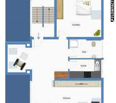 Singles aufgepasst! Traumhafte 2,5-Zimmer DG-Wohnung in der Feldlage der Waldstadt