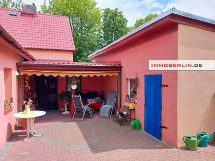 IMMOBERLIN.DE - Schöne sanierte Doppelhaushälfte mit idyllischem Südwestgarten