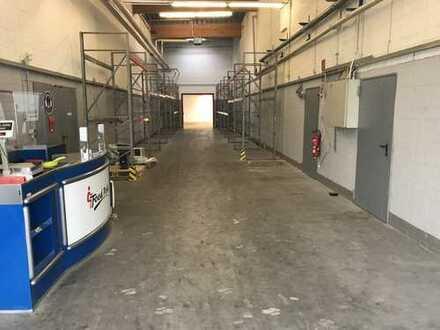 Lagerhalle 240 m² mit 80 m² Büro und Sozialräumen (Teilvermietung möglich)