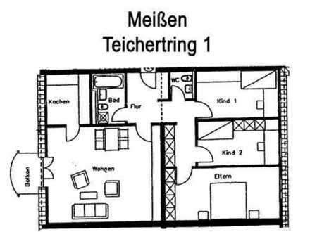 MSH | schöne 4-Zimmer-Wohnung in Meißen als Kapitalanlage