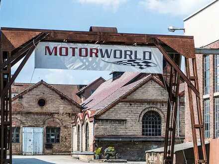 Werkstatt- und Showroomfläche in der Motorworld Manufaktur Metzingen