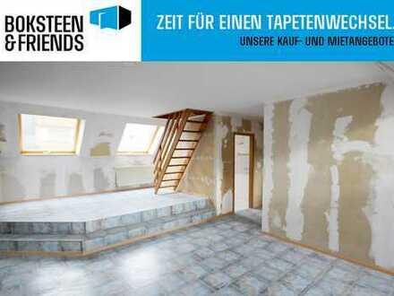 Gemütliche Dachgeschosswohnung mit großem Wohnbereich in Duisburg-Untermeiderich!