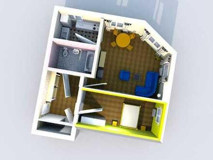 Gemütlichkeit muss nicht teuer sein - 2 Zimmer Wohnung mit Wanne