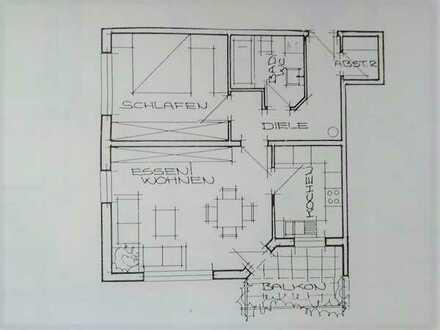 Helle sonnige 2-Zimmer-Wohnung mit Südbalkon und Garage in Nattheim