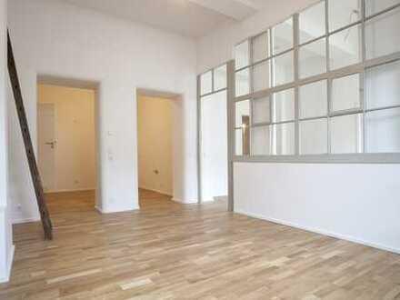 3-Zimmer-Loft, hohe Decken, Industriecharme, große Schlafzimmer - Wohnung 2