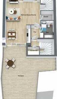 Exklusive Innenstadtlage! Neubau Maisonette Wohnung mit Dachterrasse