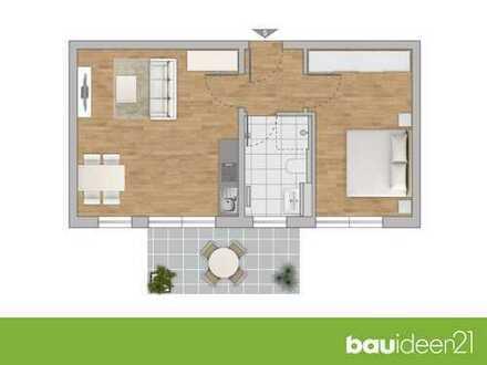 2-Zi.-Neubauwohnung mit hochwertiger Ausstattung und kurzen Wegen ins Grüne - Stufenlos dank Aufzug