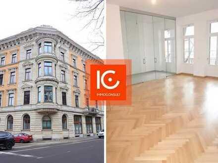 4-Raum Altbauwohnung mit Parkett, Balkon, Lift, Fußbodenheizg., 2 Bäder, Abstellraum, Keller
