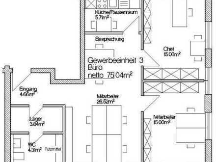 Gewerbe / Bürofl., 75 m² im EG, direkt am Übergang zur Altstadt, mit mehreren Stpl.