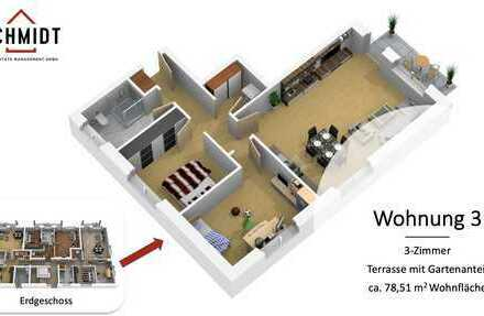 Hochwertige Neubau-ETW mit Terrasse und Gartenanteil (courtagefrei)