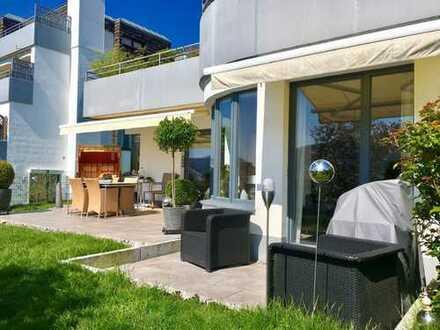 Traumhafte Erdgeschosswohnung mit Sonnenterrasse - Fernsicht inklusive -