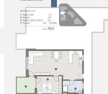 1. OG; Gemütliche, moderne Wohnung für Paare - T5 Wohnareal - fortschrittlich, nachhaltig, innovativ