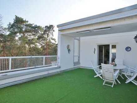 Elegante Blickmaisonette über den Dächern von Darmstadt in grüner, ruhiger Lage! 30m² Dachterrasse!!