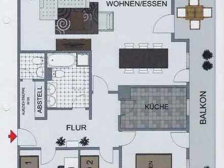 Gepflegte 4-Zimmer-Dachgeschosswohnung mit Balkon und Einbauküche in Kaufbeuren