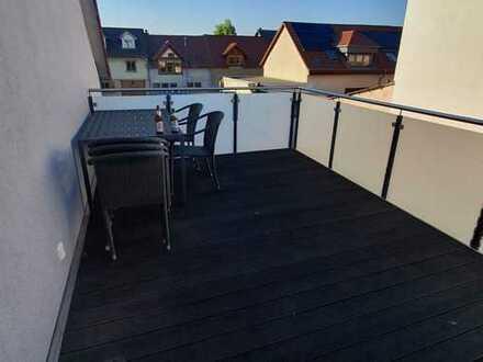 2-Raum-Maisonette-Wohnung mit Balkon und Einbauküche in Gau-Algesheim