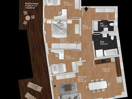 Interessante 4 Zimmer Penthouse-Wohnung