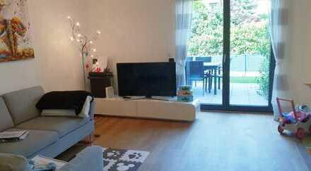 Moderne, neuwertige 3-Zimmer-Wohnung mit Terrasse, Garten, Fußbodenheizung und EBK in Heidelberg