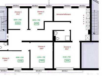 TRAUM WG - Erstbezug nach Sanierung ! 6-Zimmer Wohnung mit EBK in Bayreuth City