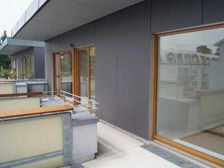 Penthouse Wohnung mit großer Terrasse und Blick auf Frankenstein