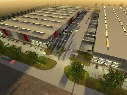 NEUBAU ✓ 24/7-NUTZUNG ✓ Lager-/Logistik (50.000 m²/teilbar) & Büro (5.000 m²/teilbar) zu vermieten