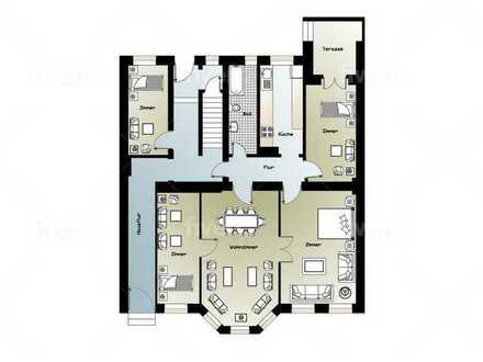 Frisch modernisierte Wohnung mit fünf Zimmern und Terasse Fürstenwalde