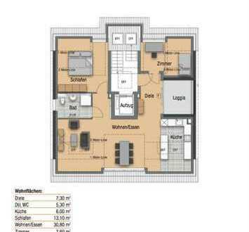 3 Zimmer DG-Penthouse-Neubauwohnung in Stuttgart, Beratung vor Ort am 26.05.19 von 14 bis 16