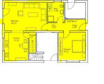 Neuwertige EG-Wohnung mit Terrasse und Blick ins Grüne