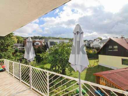 Ruhig und beschaulich wohnen nahe Weinheim: Charmante 4-Zimmer-Wohnung mit großem Balkon