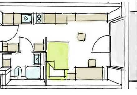 Möbliertes Komfort-Apartment in Neu-Ulm