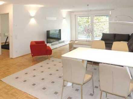 Exklusive, möblierte 3-Zimmer-Wohnung mit Balkon und Einbauküche in Offenbach am Main