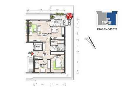 Penthousewohnung mit Dachterrasse (Nr. 8)