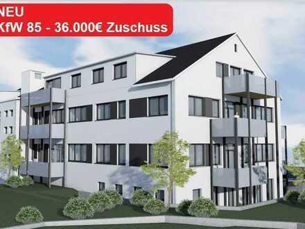 Exklusive 2-Zimmer Wohnung - KFW 85 Förderung - 36.000 € Zuschuss