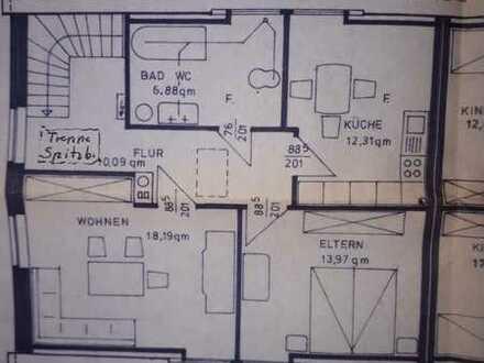 schöne helle 2 Zimmer-Wohnung/Küche/Bad im OG/DG mit Einbauküche in Tarmstedt
