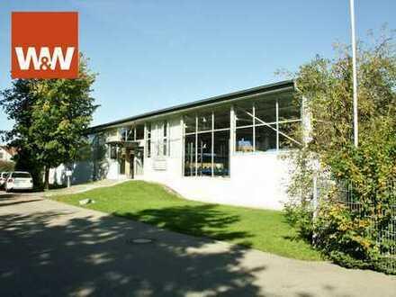 Produktions- und Lagerhalle mit LKW - Zufahrt + Rampe und zahlr. PKW - Stellplätzen u. 6,5 % Rendite