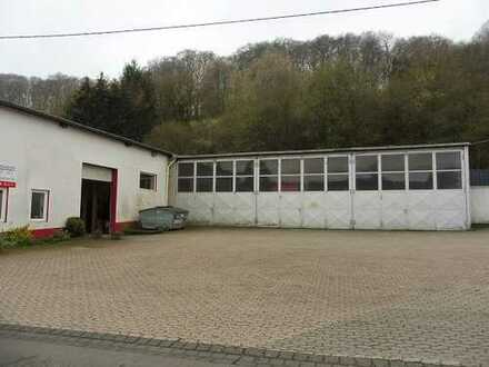 2 Gewerbehallen - ca. 9 km von der Autobahn - für Ausstellung, Verkauf oder Lager mit KFZ-Re
