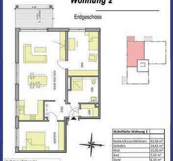 3-Zimmer-Wohnung in Dietenhiem im Erdgeschoß mit kleinem Garten
