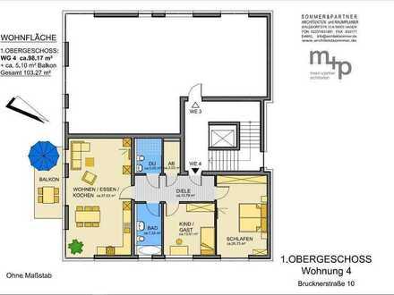 Ihr neues Zuhause im Klosterviertel - Wohnung im 1. OG zum Erstbezug in der Brucknerstr. 10