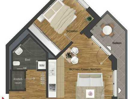 Erstbezug: exklusive 2-Zimmer-Wohnung mit Einbauküche und Balkon in Frankfurt am Main