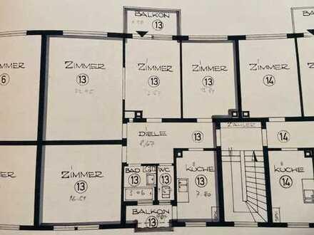 Erstbezug nach Sanierung mit Einbauküche und Balkon: 4-Zimmer-Wohnung in Stuttgart