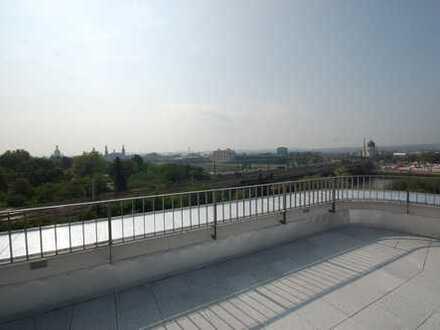 Exklusive Maisonette-Wohnung mit riesiger Dachterrasse und sensationellem 360°Fernblick über Dresden