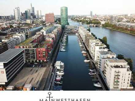 Exklusive 2 Zimmer Wohnung mit Terrasse und Garten am Westhafen - Möbliert!