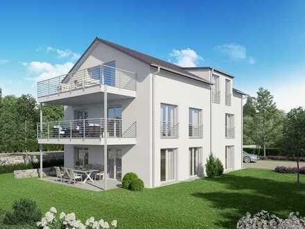 ***NEUBAU KfW 55: Moderne helle 3,5 Zimmer-Wohnung mit Balkon im 1. OG***