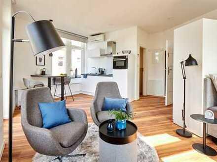 helles City Apartment mit Balkon und Klimaanlage