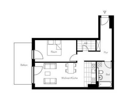 Exklusive 2-Zimmer-Erdgeschosswohnung mit Balkon und Einbauküche in Spandau, Berlin