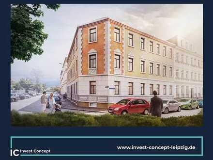 Zeitlos geschnittene Familienwohnung + Balkon + Bad mit Fenster + Gäste-Bad im Gründerzeithaus