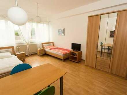 Online buchen: möbliertes 1-Zimmerapartment mit Internet, TV, Küchenzeile, Du/Wc, Waschmaschine