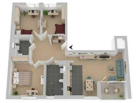 Rollstuhlgerechte 4-Zimmer Wohnung mit Loggia in den Süden