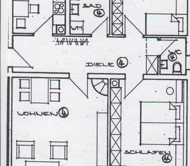 Gepflegte 3-Zimmer-Wohnung mit Balkon und EBK in Dinkelsbühl